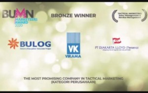 PT Djakarta Lloyd (Persero) Raih The Most Promising Company In Tactial Marketing.